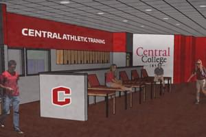 Renovated training room rendering