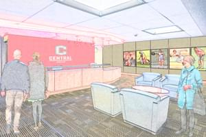 Renovated welcome center rendering